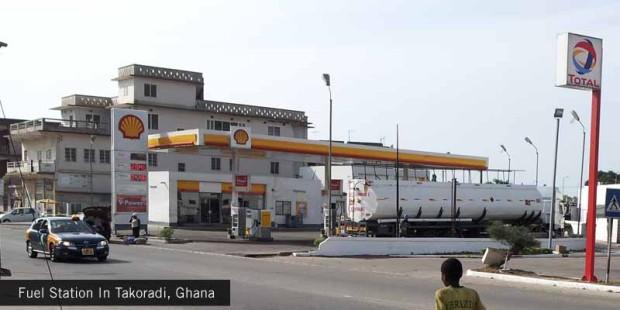 Fuel-Station-In-Takoradi,-Ghana