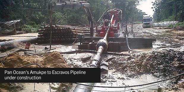 Pan Ocean's Amukpe To Escravos Pipeline